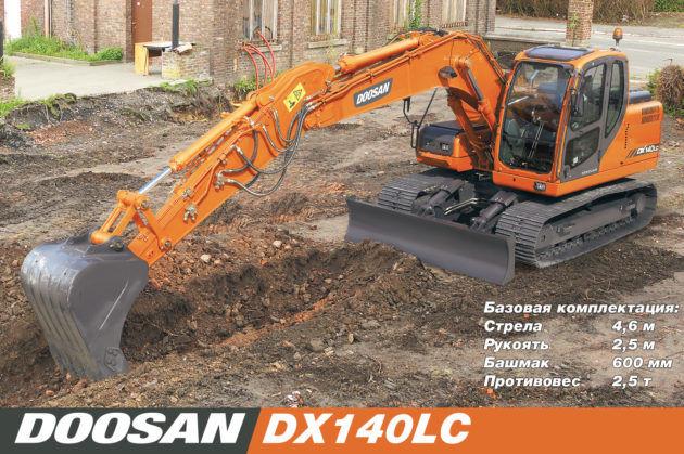 Экскаватор Doosan DX140LC