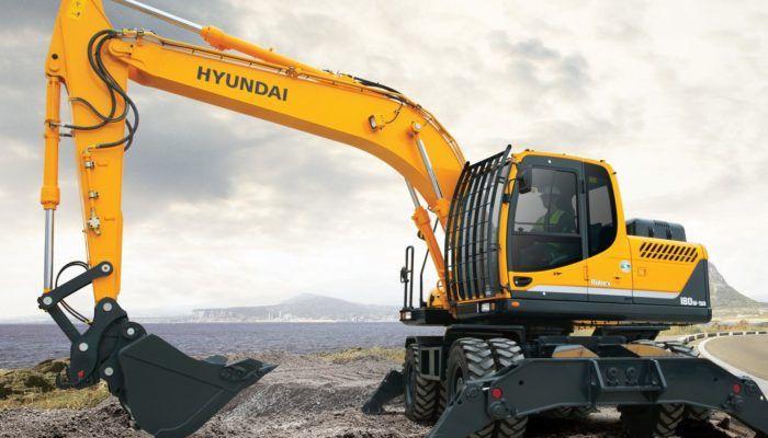 Экскаваторы Hyundai колесные