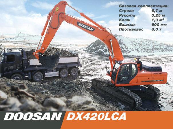 Гусеничный экскаватор Doosan DX420LCA