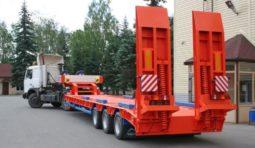 Аренда низкорамного трала 25 тонн