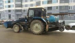 Аренда трактора МТЗ 82.1 с щеткой