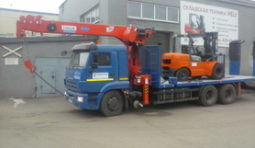 Аренда трала КамАЗ 65117 12 тонн