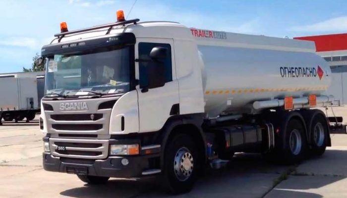 Бензовоз на базе шасси Scania
