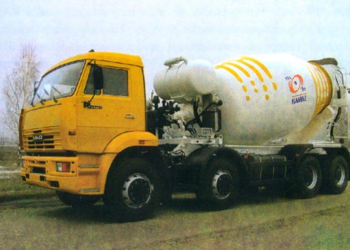 Бетоновоз на базе автомобиля КАМАЗ