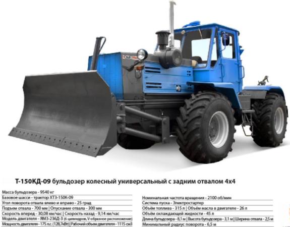 Бульдозеры Т-150КД-09