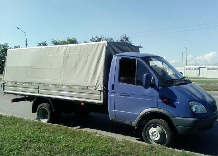 ГАЗ-3302 тентом серого цвета