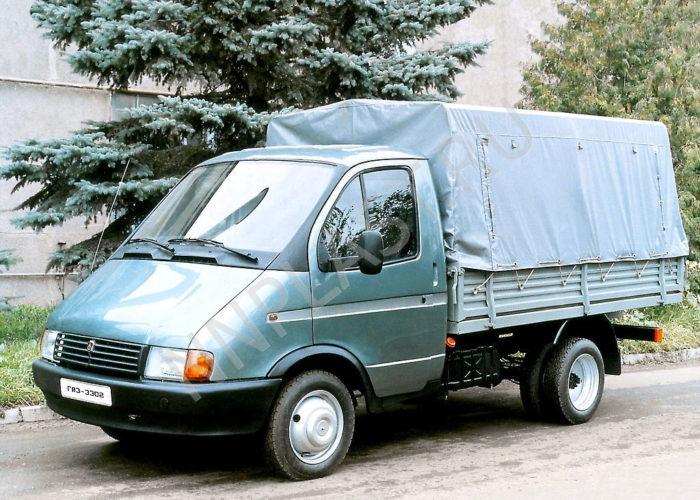 ГАЗ 3302 зеленая с тентом