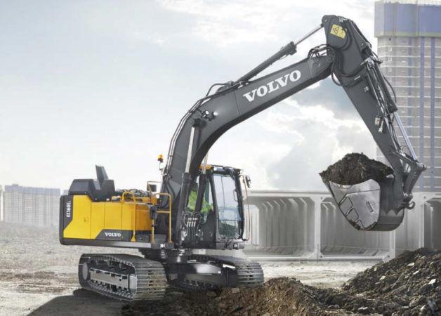 Гусеничный экскаватор Volvo применяется во многих промышленных направлениях