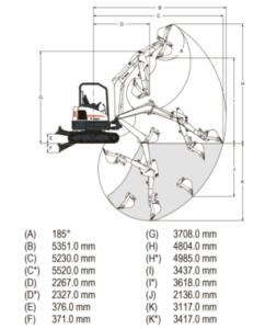 Компактный мини экскаватор Bobcat E35 сочетает в себе отличную производительность, малый вес и превосходные эксплуатационные характеристики