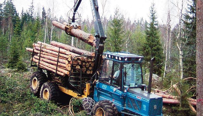 Лесоуборочные трактора