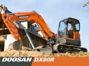 Мини-экскаватор Doosan DX80R