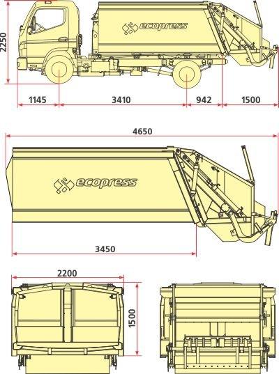 Мусоровозы с задней загрузкой кузова серии КО-427