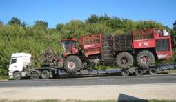 Перевозка грузов тралом передний, задний заезд