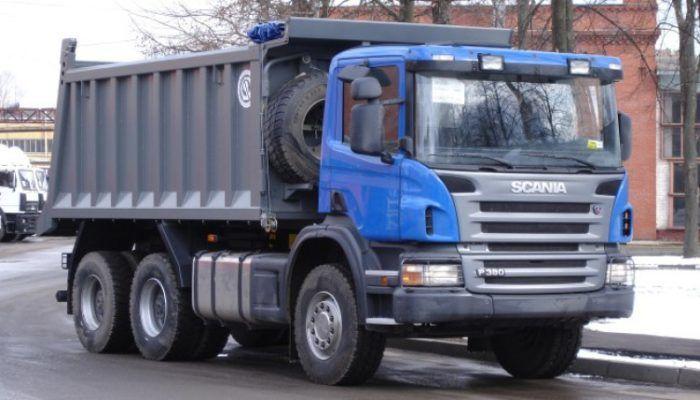 Самосвал на шасси Scania