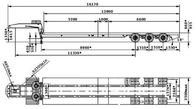 Трал ЧМЗАП-990640 по спецификации 042-В