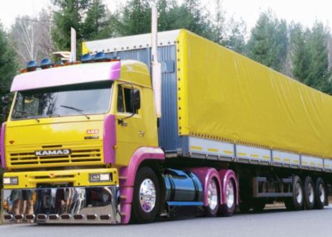 Тюнинг Камаз 65115 желтый