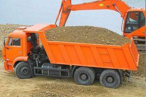 Перевозка песка самосвалом КамАЗ