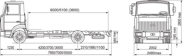 Технические параметры МАЗ-4370