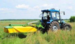 Аренда трактора для покоса травы