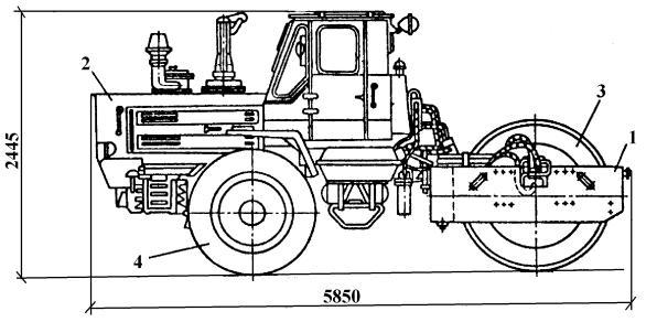 Дорожный каток чертеж