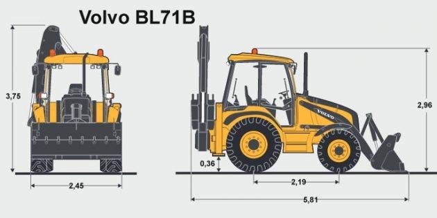 Экскаватор погрузчик Volvo bl71