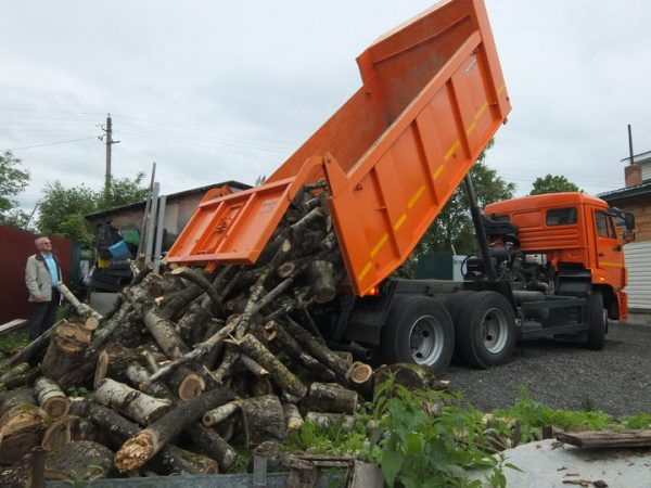 КамАЗ с дровами