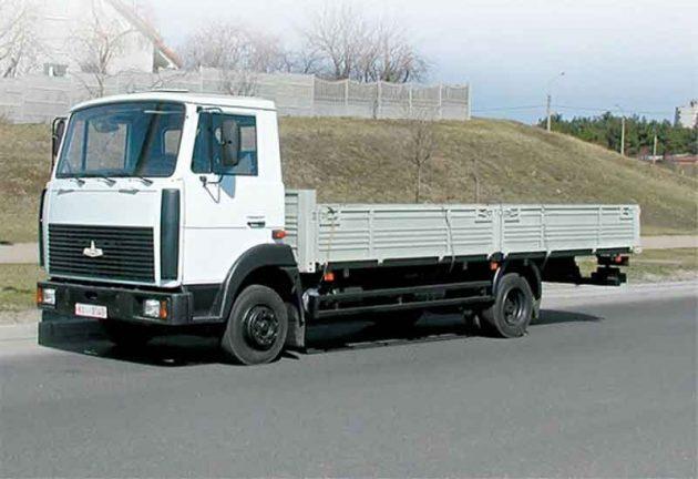 МАЗ-4370 с удлиненной грузовой платформой
