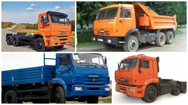 Модификации автомобилей КамАЗ-65115