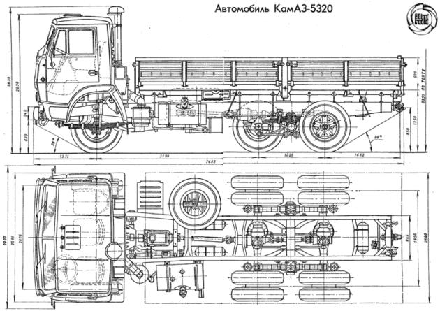 Общий вид КамАЗ-5320