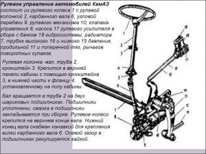 Рулевое управление автомобилей КамАЗ
