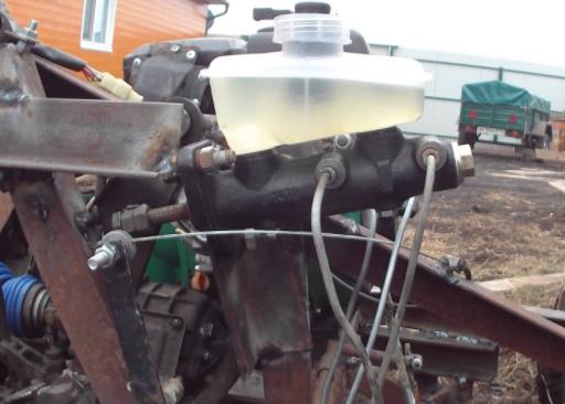 Тормозная система минитрактора из ОКИ
