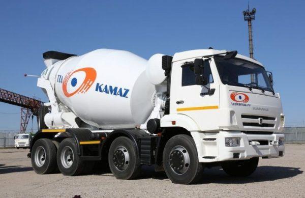 Вместительность бетоносмесителя на базе КамАз