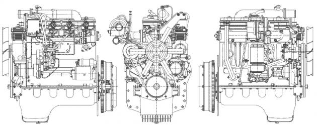 Схема двигателя Д-245.30Е3