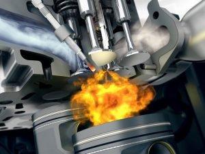 Сгорание топлива в двигателе