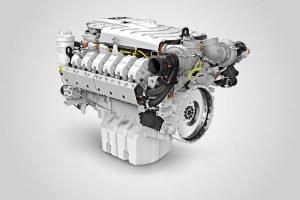 12-цилиндровый двигатель, произведённый на предприятии Liebherr в Бюле (Швейцария)
