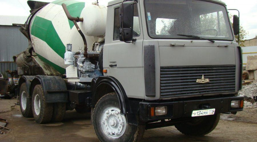Бетоновоз на МАЗ-6303
