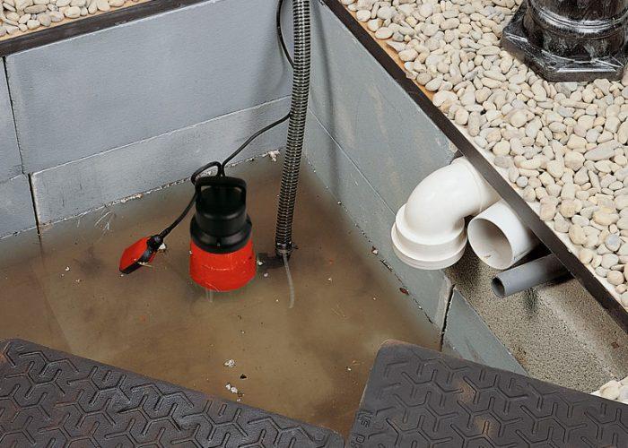 Дренажный насос для частично загрязненной воды