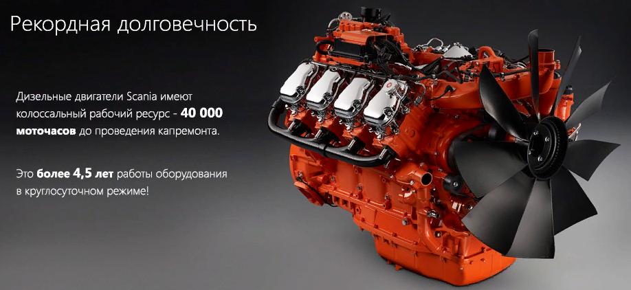 Двигатель Scania R730 7