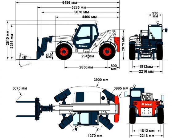 Эксплуатационные характеристики Bobcat T35100
