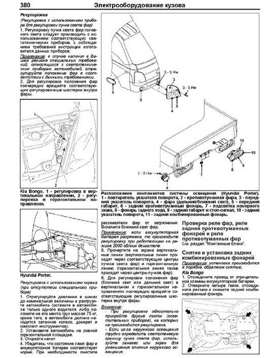 Электрооборудование кузова Hyundai Porter