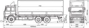 Габаритные размеры МАЗ 6303
