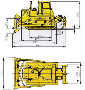 Габаритные размеры Shantui SD22