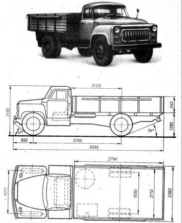 Габариты ГАЗ-52