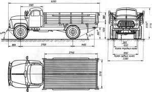 Габариты ГАЗ-53