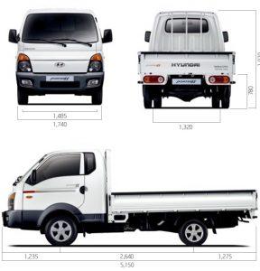 Габариты Hyundai Porter