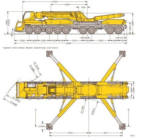 Габариты Liebherr LTM 11200-9.1