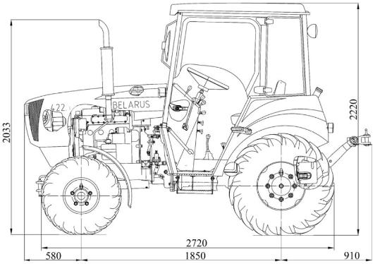 Габариты МТЗ-422