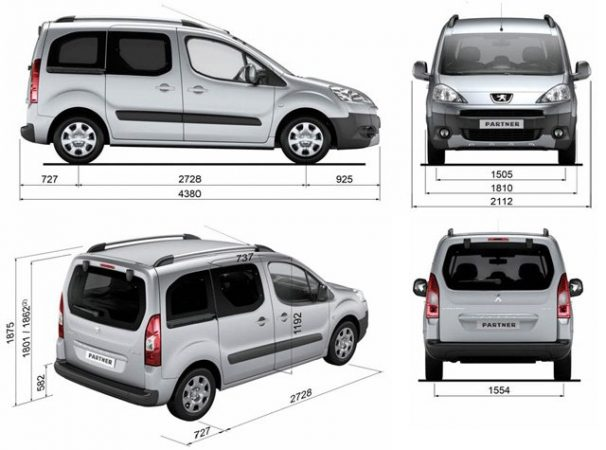 Габариты Peugeot Partner