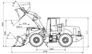Габариты XCMG LW300F