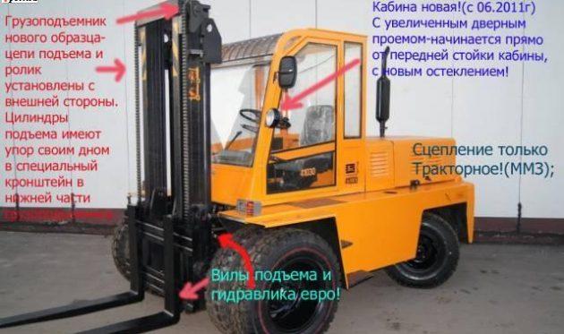 Характеристика Львовского погрузчика 5 тонн